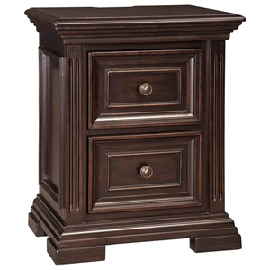 Signature Design by Ashley Willenburg Two Drawer Night Stand