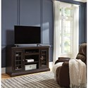 Signature Design by Ashley Willenburg Large TV Stand with Wire Mesh Doors