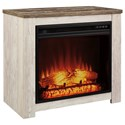 Signature Design by Ashley Joanna Fireplace Mantel with Fireplace Insert - Item Number: W267-368