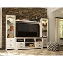 Signature Design by Ashley Willowton Entertainment Center with Piers