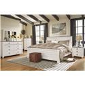 Signature Design by Ashley Willowton Queen Panel Bed Package - Item Number: 579326743