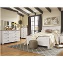 Signature Design by Ashley Willowton Queen 5 Piece Bedroom Group - Item Number: B267 6-PC Group