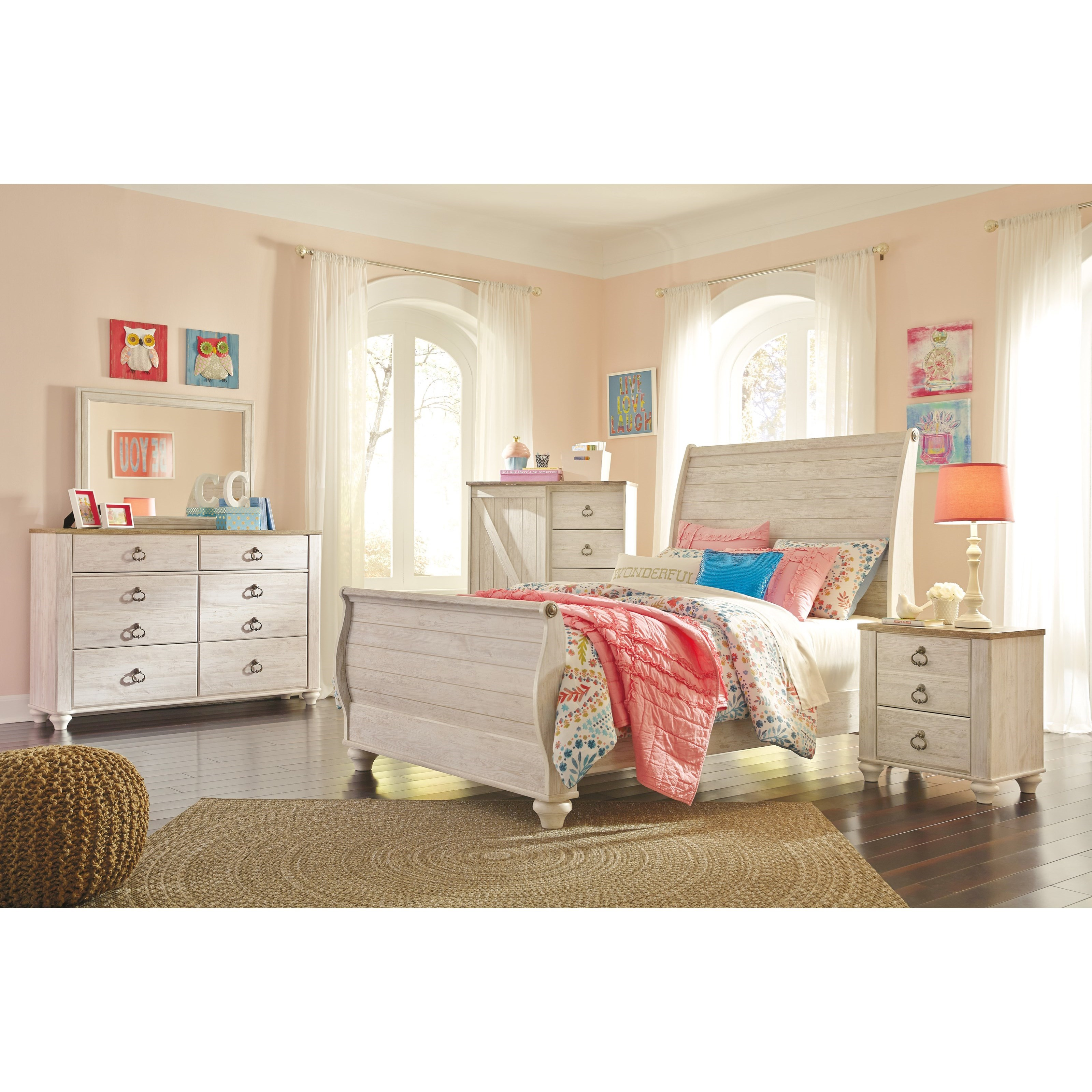 Signature Design by Ashley Willowton Full Bedroom Group - Item Number: B267 F Bedroom Group 2