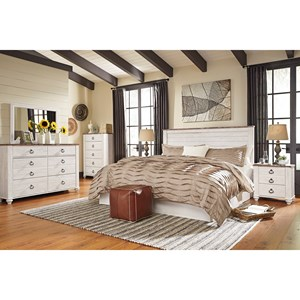 Signature Design by Ashley Willowton King/California King Bedroom Group