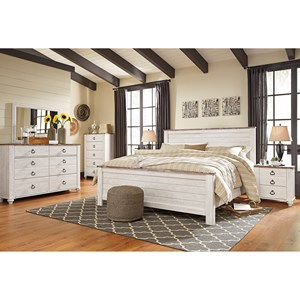 Signature Design by Ashley Furniture Willowton King Bedroom Group