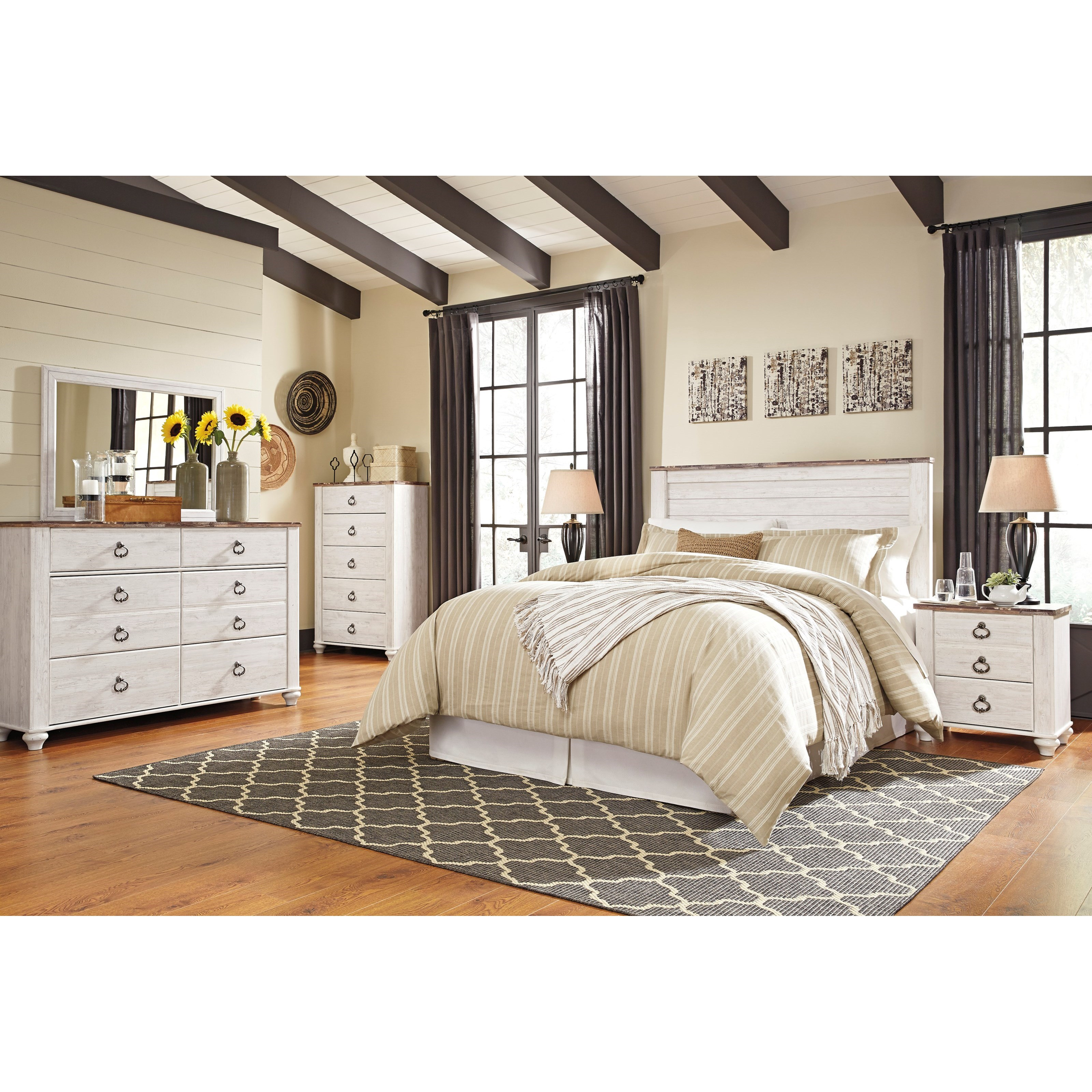 Signature design by ashley willowton queen full bedroom - Ashley furniture full bedroom sets ...