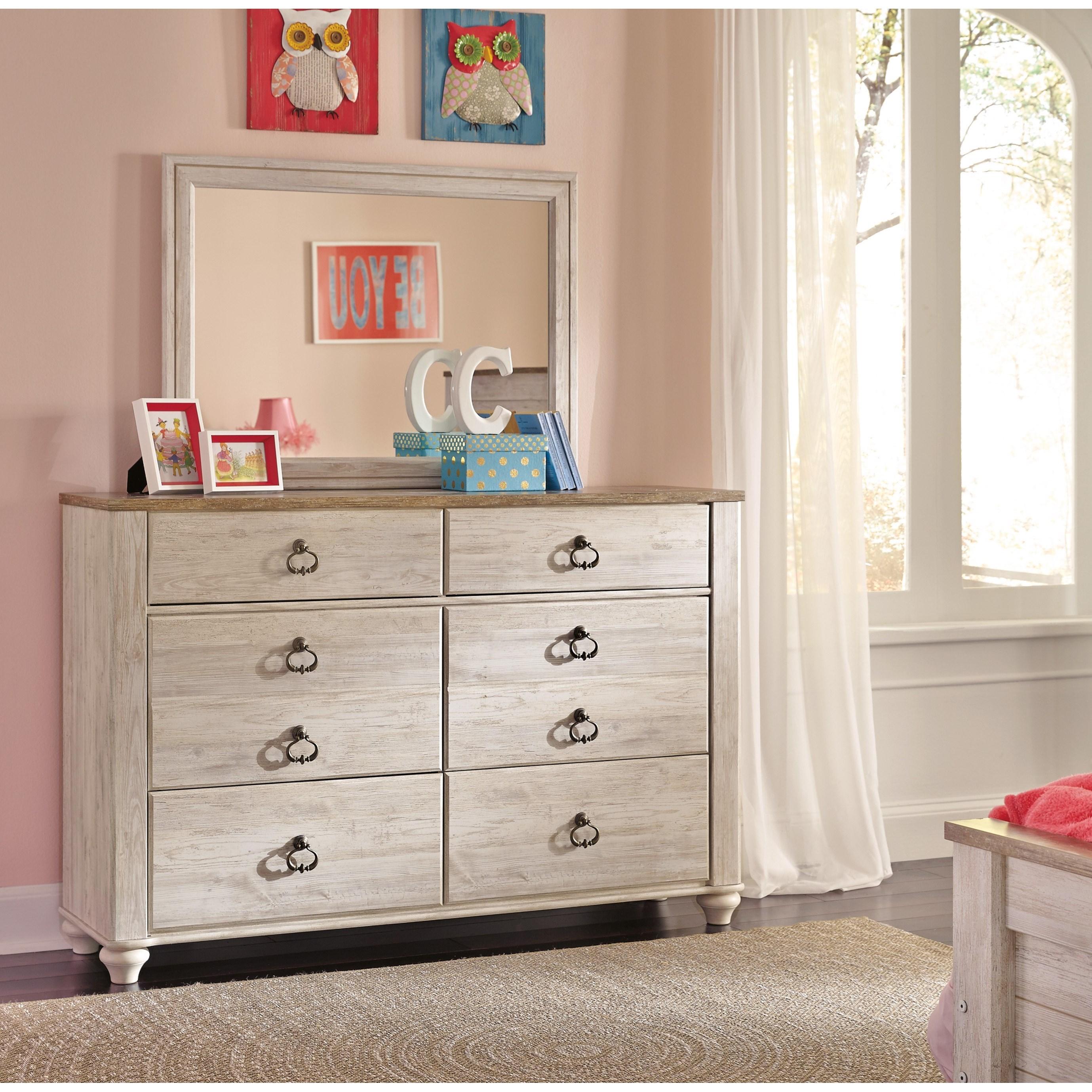 signature designashley willowton small scale 6 drawer