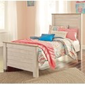 Benchcraft Willowton Twin Panel Bed - Item Number: B267-53+52+83