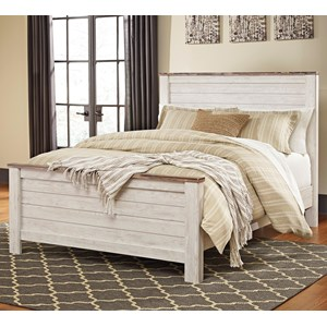 Signature Design by Ashley Willowton Queen Panel Bed