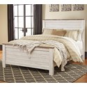 Signature Design by Ashley Willowton Queen Panel Bed - Item Number: B267-57+54+98