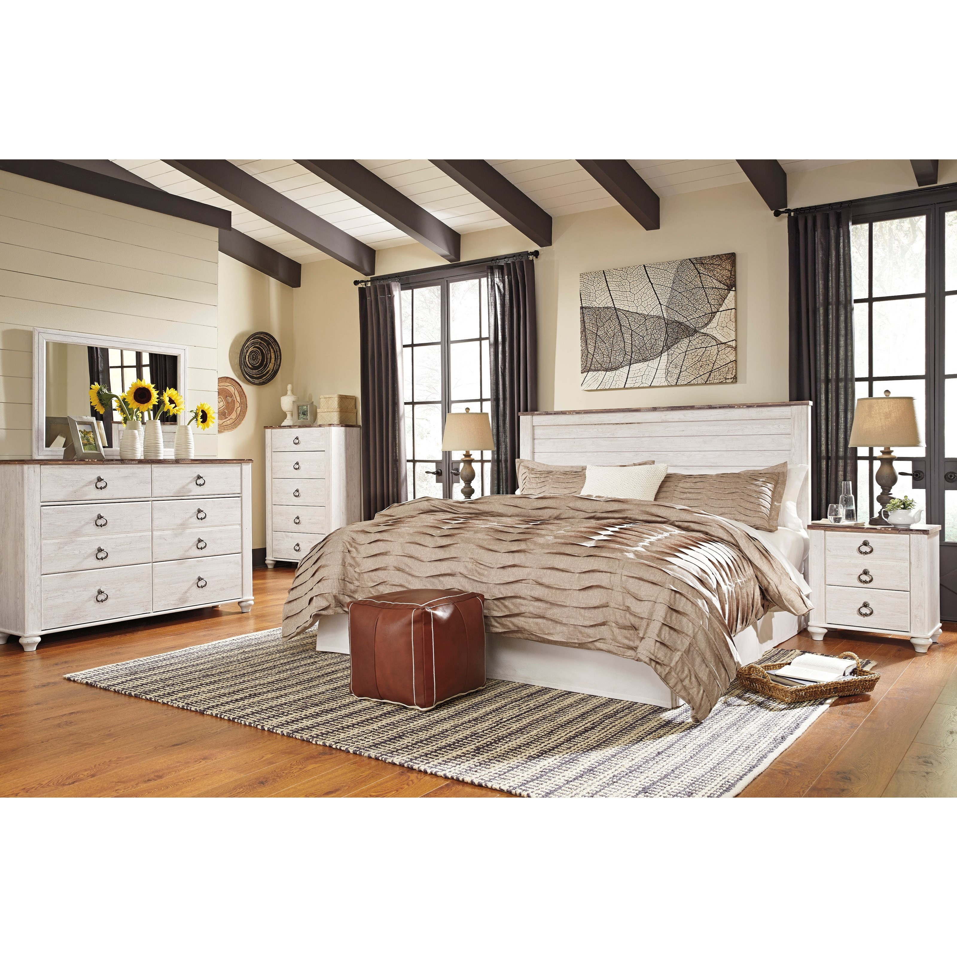 B705 58 Ck Ashley Furniture California King Sleigh Bed: Signature Design By Ashley Willowton B267-58 King/Cal King