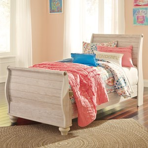 Signature Design by Ashley Willowton Twin Sleigh Bed