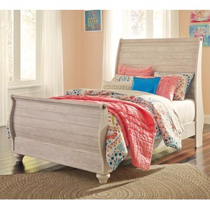 Signature Design by Ashley Willowton Full Sleigh Bed