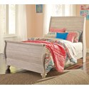 Signature Design by Ashley Willowton Full Sleigh Bed - Item Number: B267-72+71+88