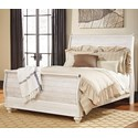 Signature Design by Ashley Joanna Queen Sleigh Bed - Item Number: B267-77+74+96