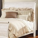 Signature Design by Ashley Willowton Queen Sleigh Headboard - Item Number: B267-77