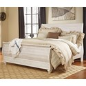 Signature Design by Ashley Joanna King Sleigh Bed - Item Number: B267-78+76+97
