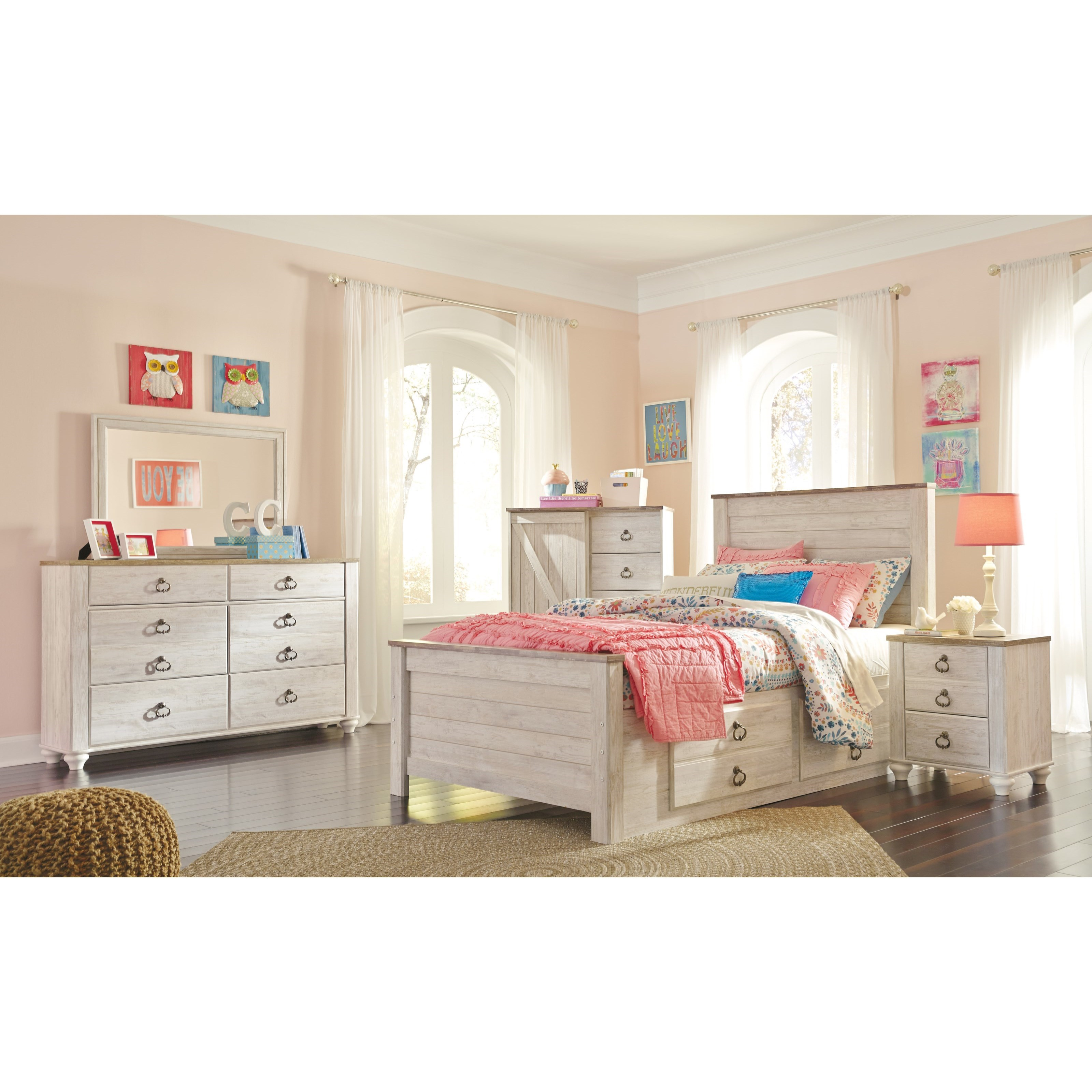 Signature design by ashley willowton full bed with - Ashley furniture full bedroom sets ...