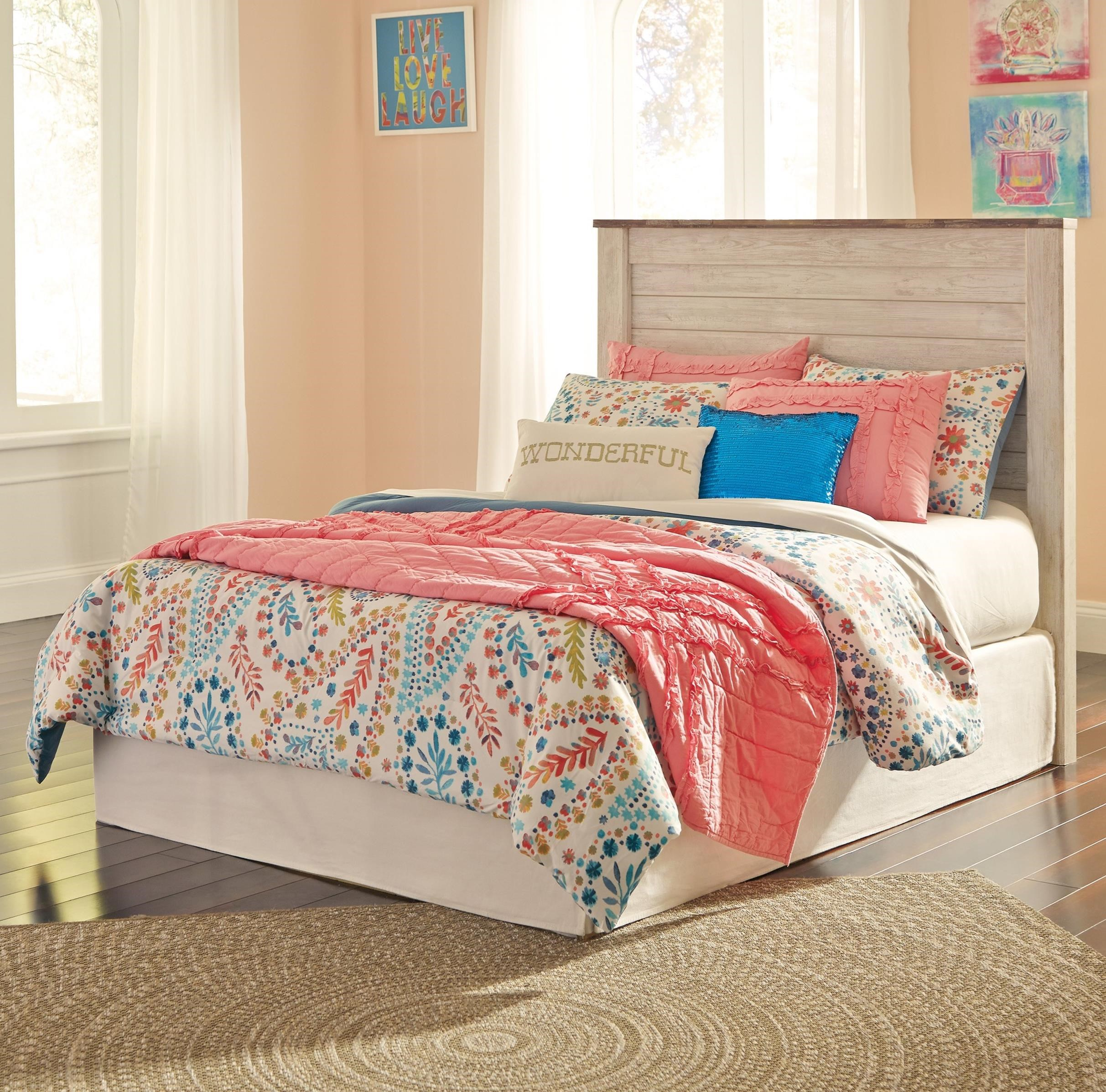 Signature Design by Ashley Willowton Full Panel Headboard - Item Number: B267-87