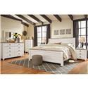 Signature Design by Ashley Willowton King Bedroom Group - Item Number: King Panel B+D+M+NS