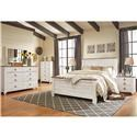 Signature Design by Ashley Willowton Queen Bedroom Group - Item Number: Queen Panel B + D+ M +NS