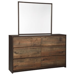 Ashley Signature Design Windlore Dresser & Bedroom Mirror