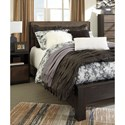 Signature Design by Ashley Windlore Modern Rustic Queen Panel Bed