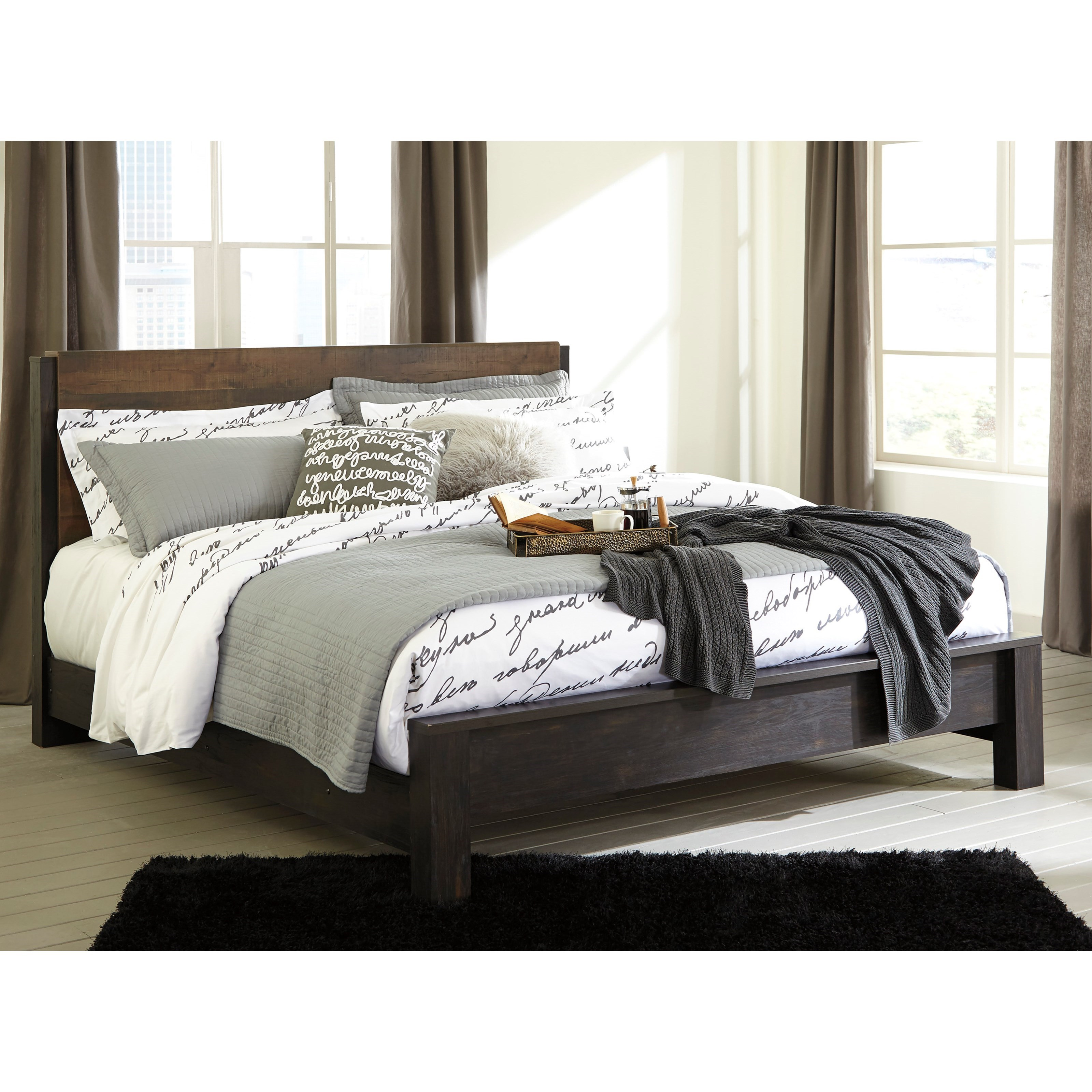 Ashley Furniture Beds: Ashley Signature Design Windlore Modern Rustic King Panel