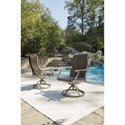 Signature Design by Ashley Windon Barn 7-Piece Rectangular Fire Pit Table Set