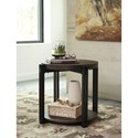 Signature Design by Ashley Winnieconi Wood & Metal Round End Table