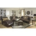 Signature Design by Ashley Winnsboro DuraBlend Stationary Living Room Group - Item Number: 55602 Living Room Group 2