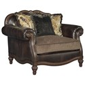 Signature Design by Ashley Winnsboro DuraBlend Traditional Chair and a Half & Ottoman