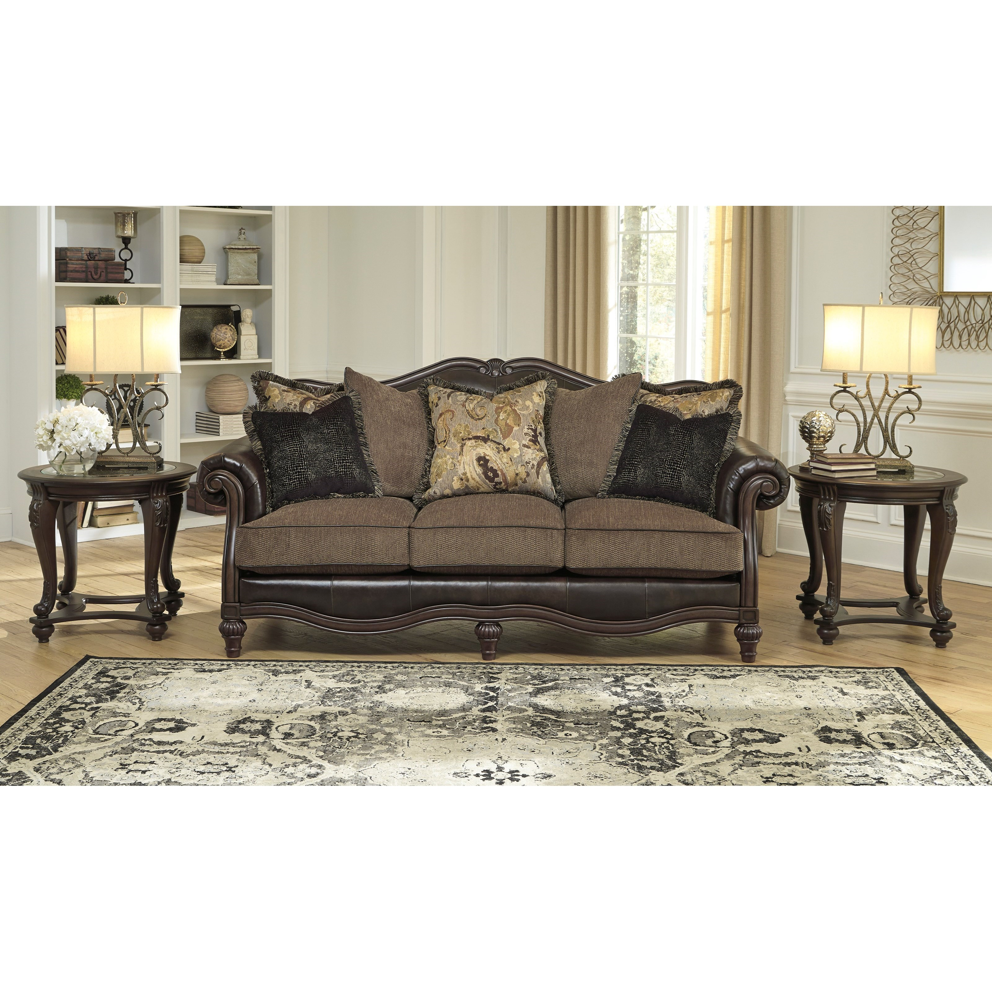 Does Sofa And Loveseat Have To Match: Signature Design By Ashley Winnsboro DuraBlend 5560238