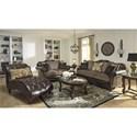 Signature Design by Ashley Winnsboro DuraBlend Traditional Fabric/Bonded Leather Match Sofa