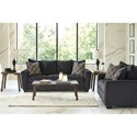 Benchcraft Wixon Loveseat with Rounded Track Arms
