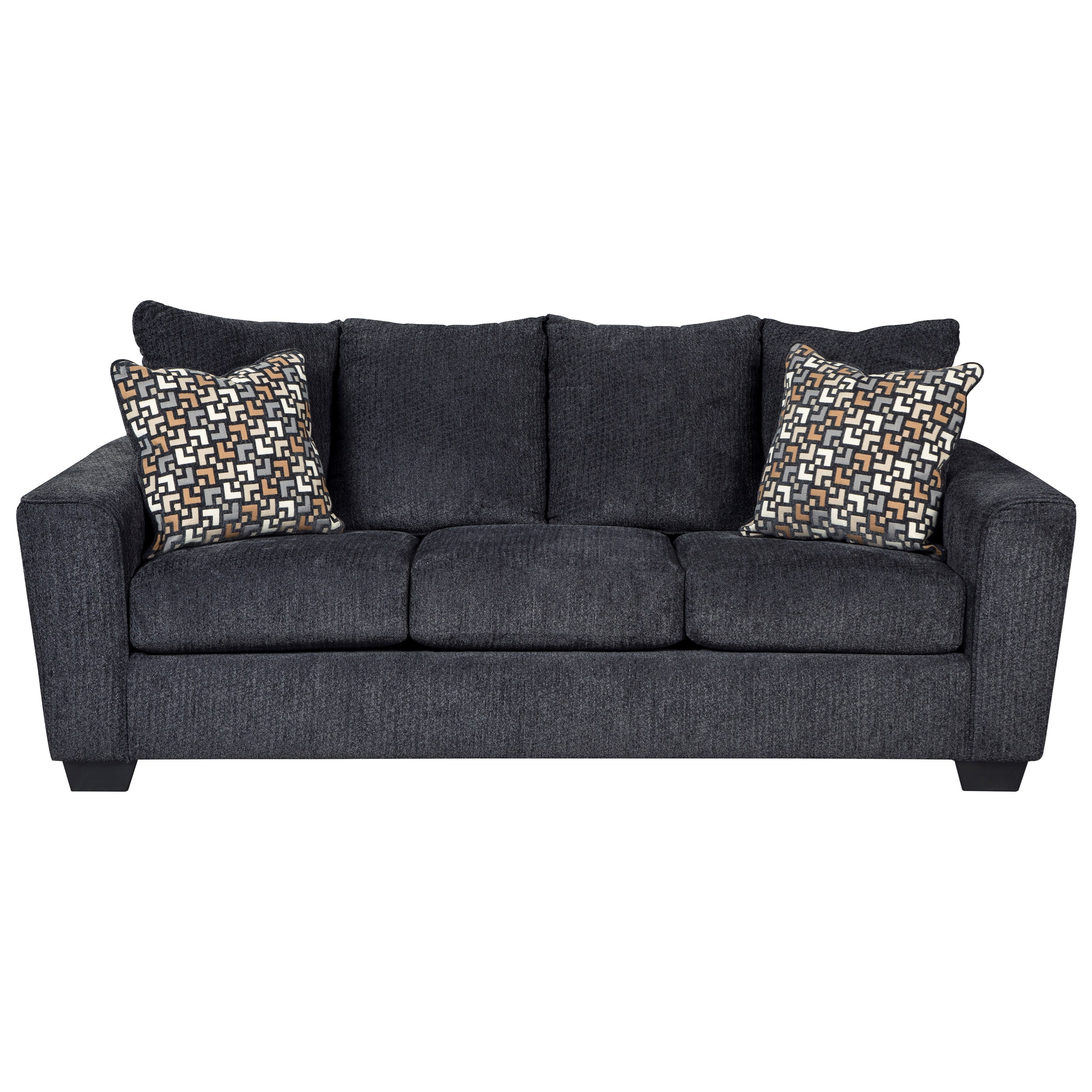 Benchcraft Wixon Sofa With Rounded Track Arms Value City Furniture Sofas