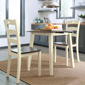 3-Piece Round Drop Leaf Table Set