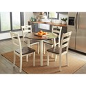 Signature Design by Ashley Woodanville 5-Piece Round Drop Leaf Table Set