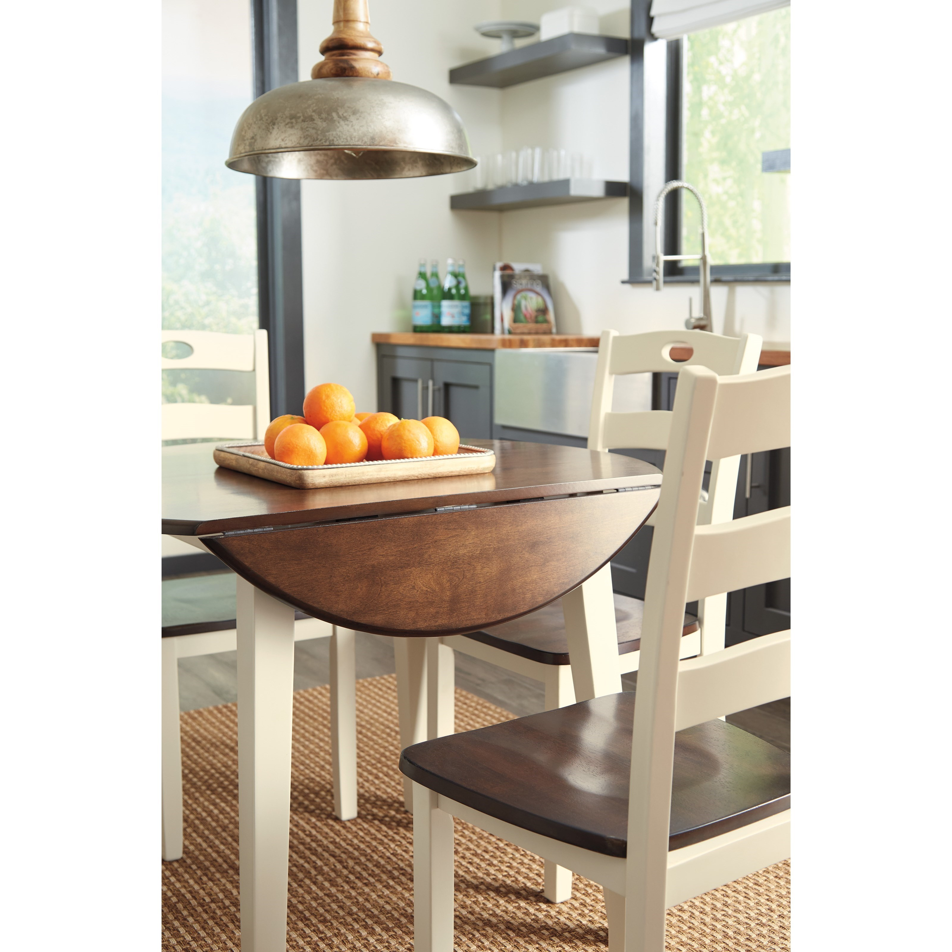 15 Small Dining Room Table Ideas Tips: Ashley Signature Design Woodanville D335-15 Two-Tone