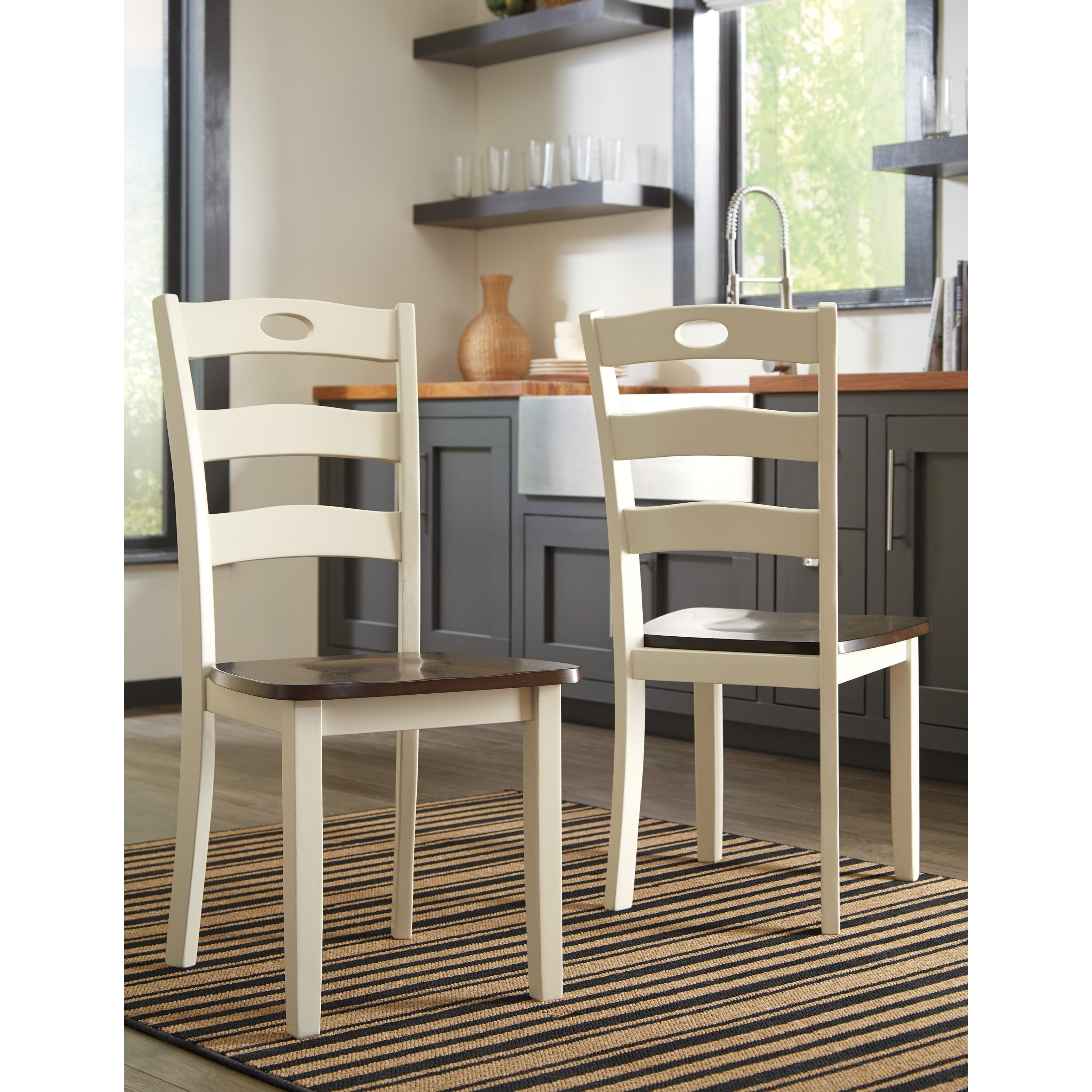 White Acres Two-Tone Finish 7-Piece Dining Room Table Set