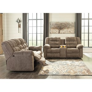 Benchcraft Workhorse Reclining Living Room Group