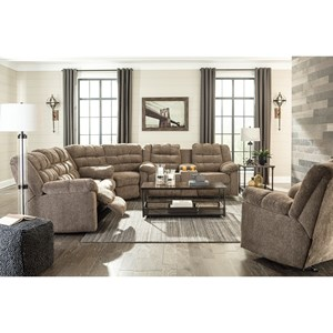 Signature Design by Ashley Workhorse Reclining Living Room Group