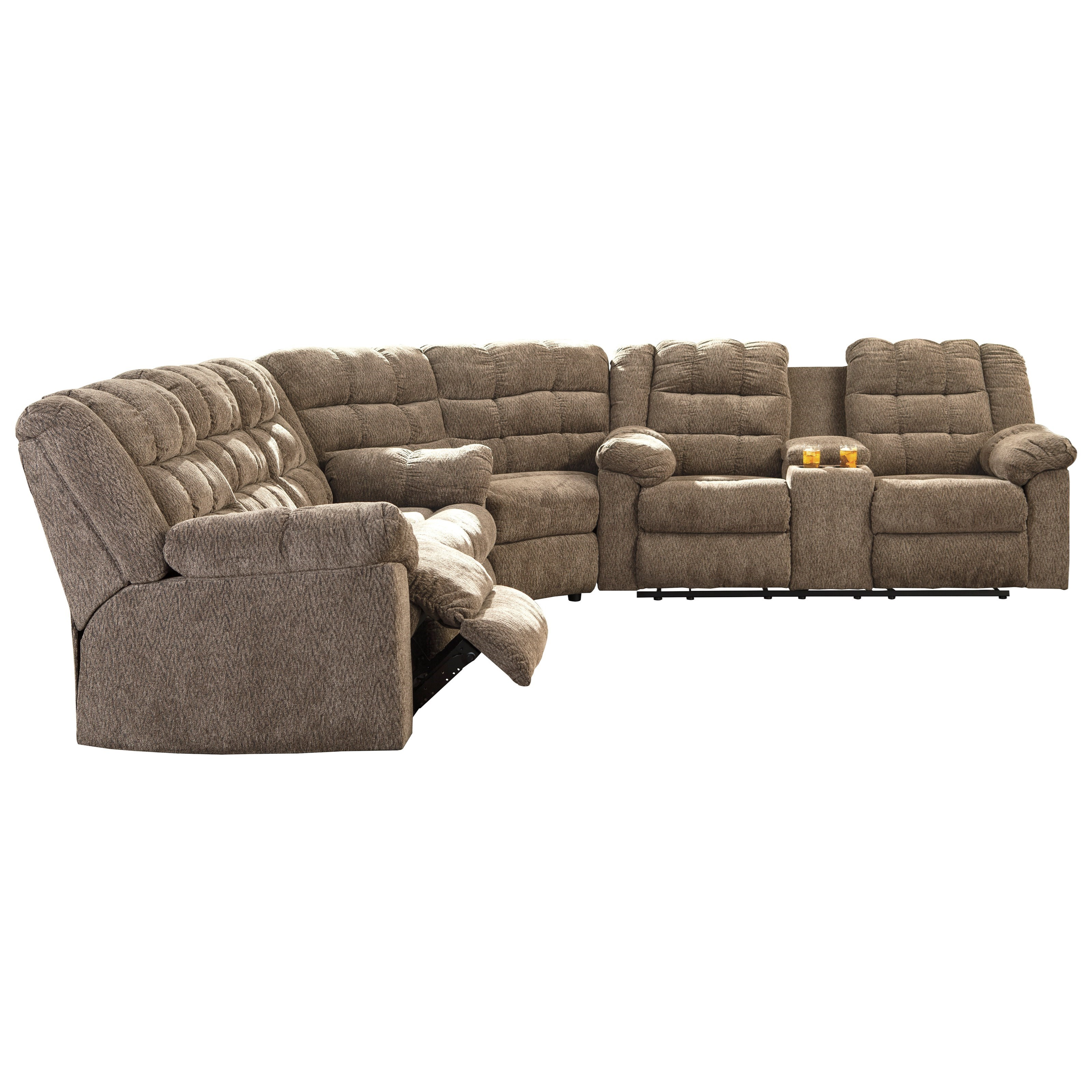 Signature Design By Ashley Workhorse 3 Piece Sectional With Wedge
