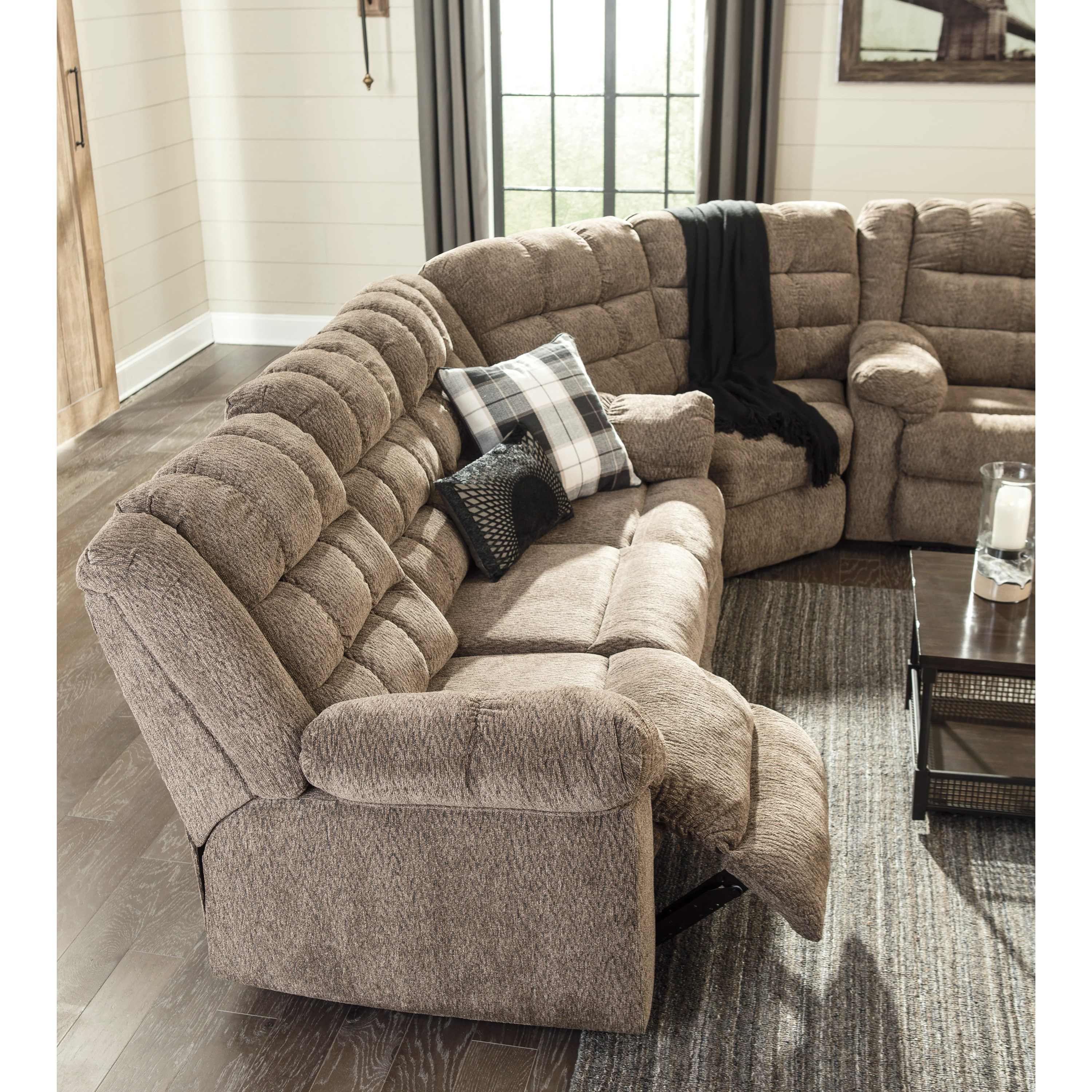 Ashley Furniture Online Catalog: Signature Design By Ashley Workhorse 3-Piece Sectional