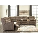 Signature Design by Ashley Workhorse 3-Piece Sectional with Wedge