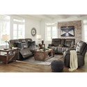 Ashley Signature Design Wurstrow Reclining Living Room Group - Item Number: U54602 Living Room Group 1