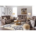 Signature Design by Ashley Wurstrow Reclining Living Room Group - Item Number: U54603 Living Room Group 1