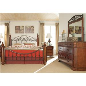 Signature Design by Ashley Furniture Wyatt 4 Piece Queen Bedroom Group