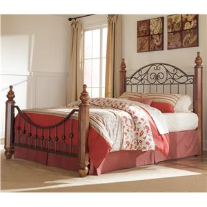 Signature Design by Ashley Wyatt Queen Octagon Poster Bed
