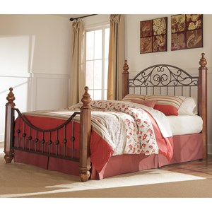 Signature Design by Ashley Wyatt Cal King Octagon Poster Bed